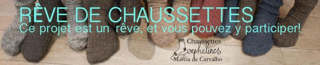 Chaussettes orphelines marcia de carvalho goutte d'or