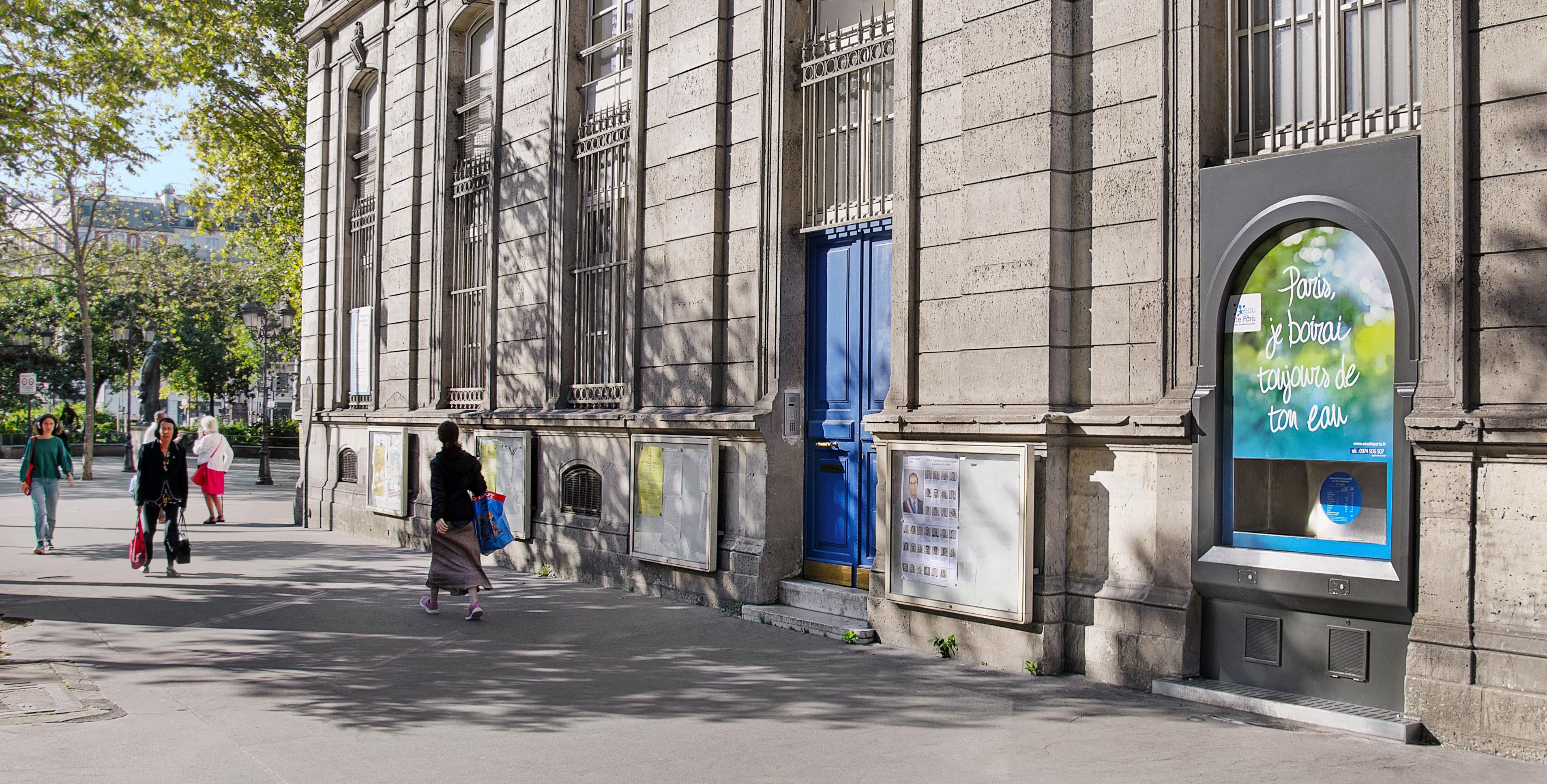 La fontaine de Noir Vif à la mairie du 11e arrondissement de Paris