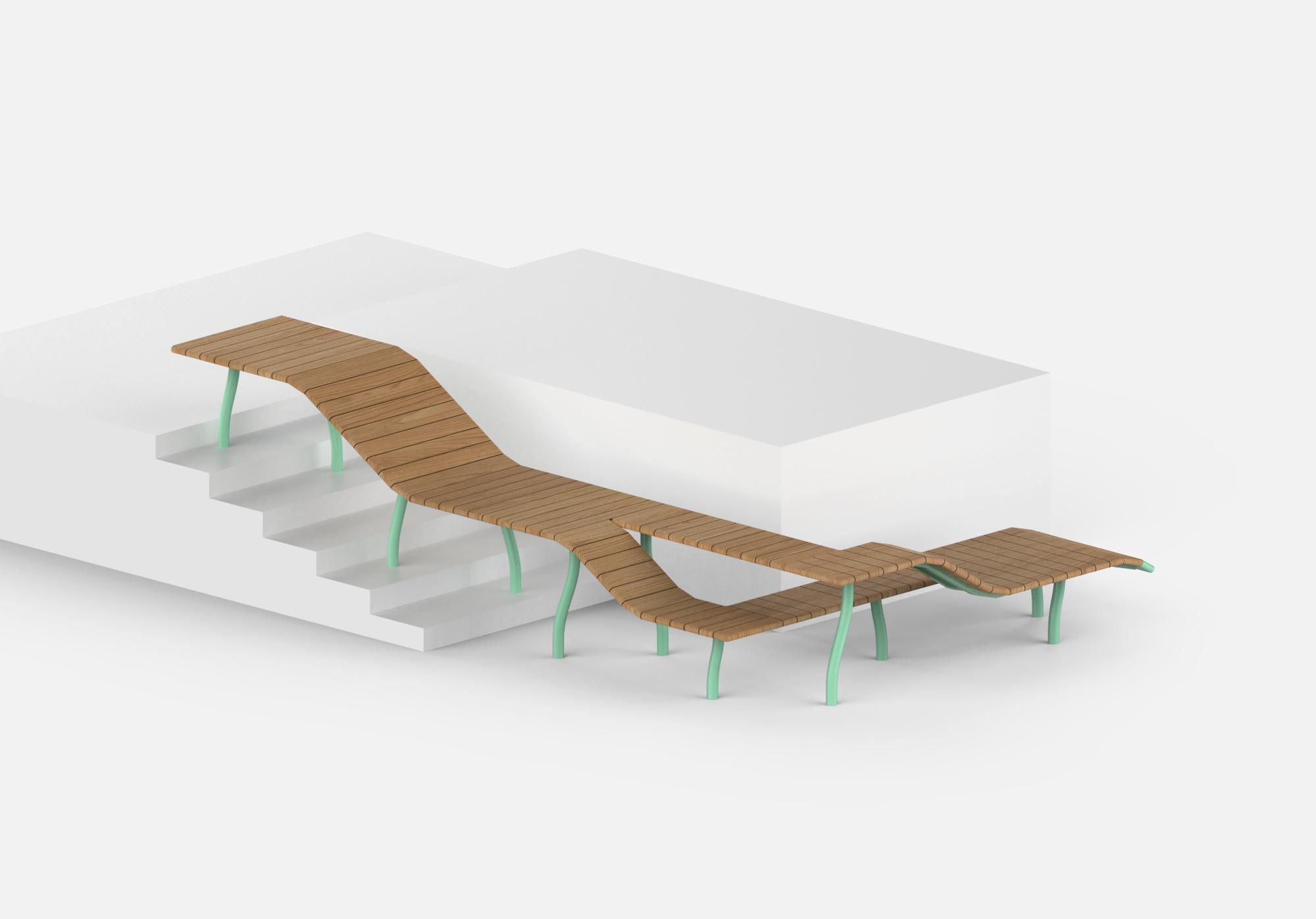 Prototype de Pierre Charrié pour la biennale de la création de mobilier urbain 2019
