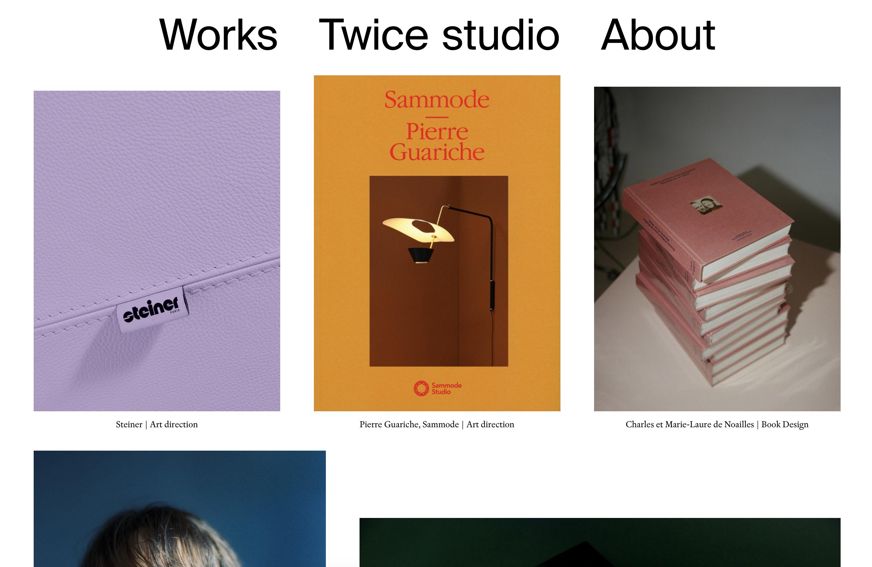 Le nouveau site internet de Twice Studio