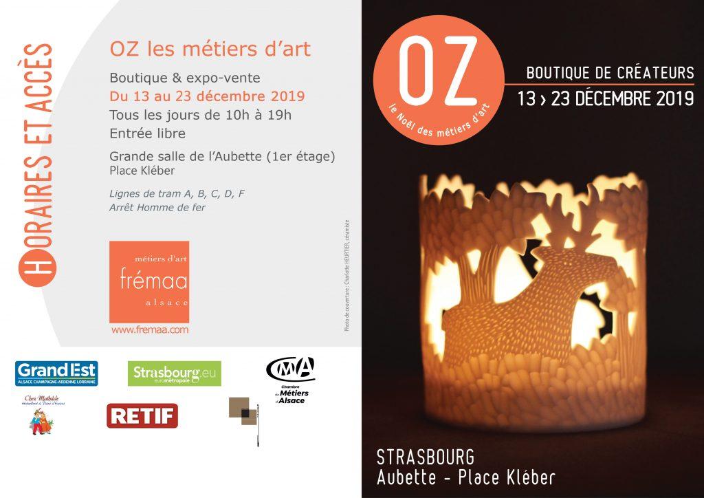 Cécile Chareyron à la boutique OZ les métiers d'art en décembre 2019