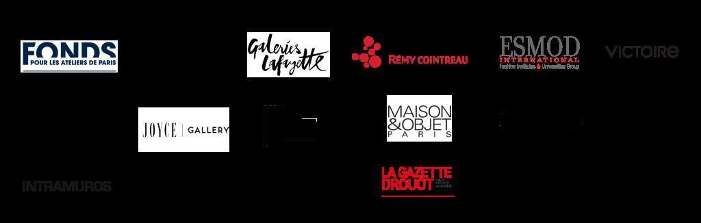 Logos des partenaires des Grands Prix de la Création