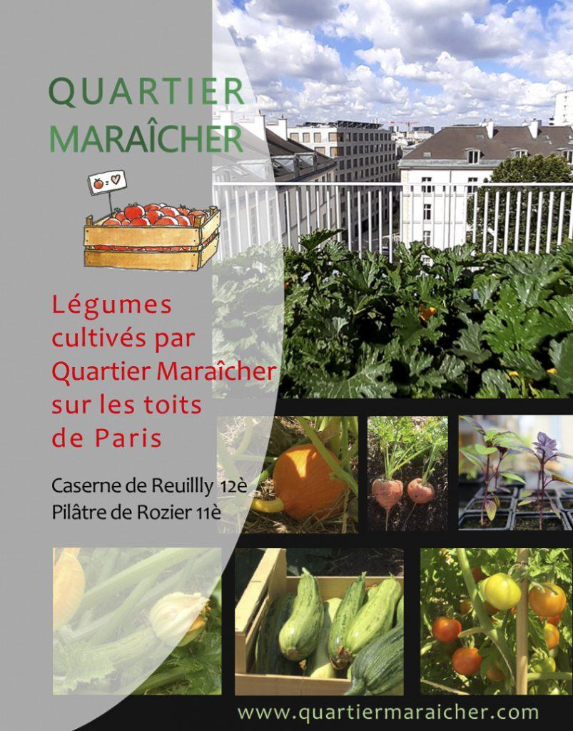 Légumes des Toits par Quartier Maraicher