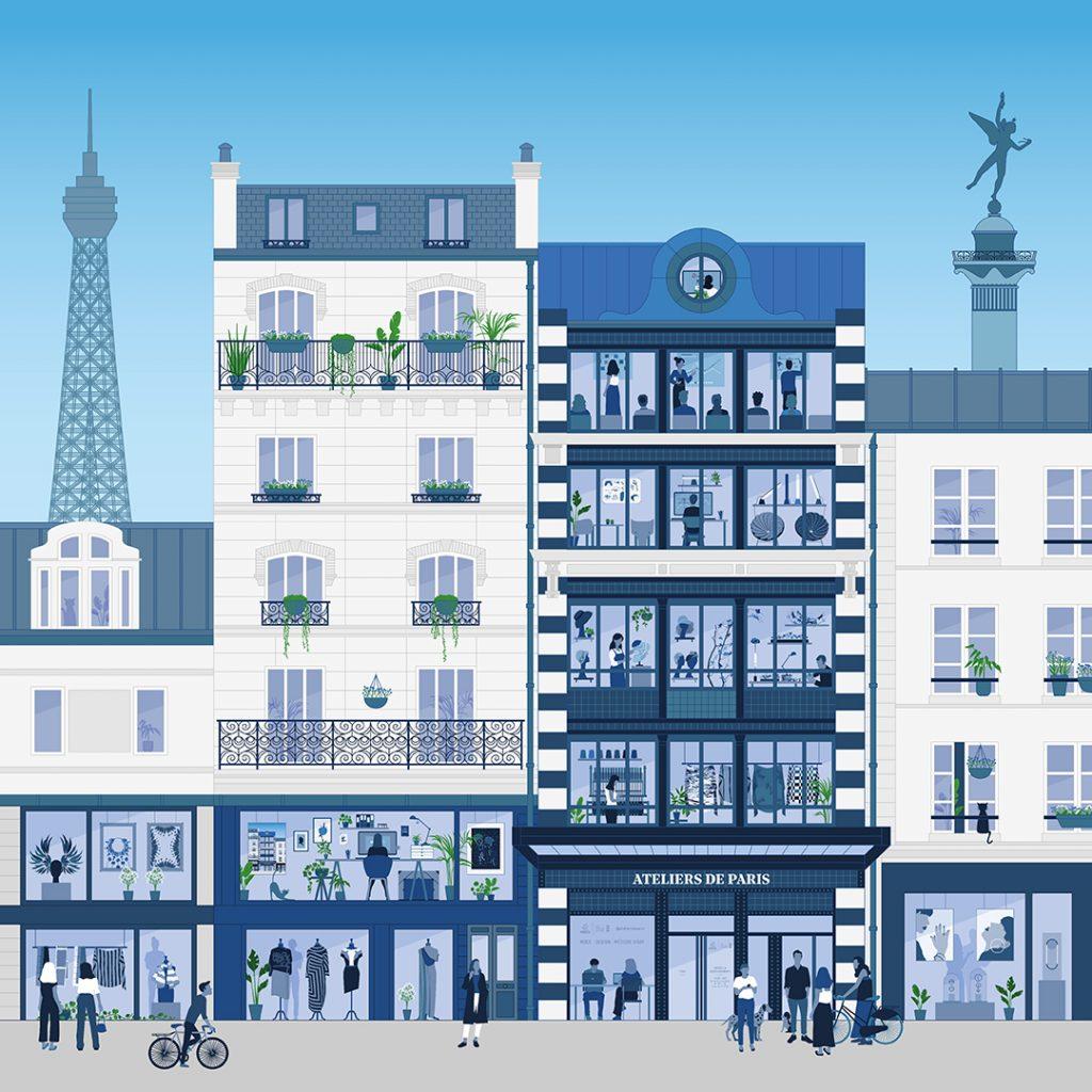 La vidéo de présentation du Fonds pour les Ateliers de paris, réalisée par Sophie Poupaert de Blouson noir