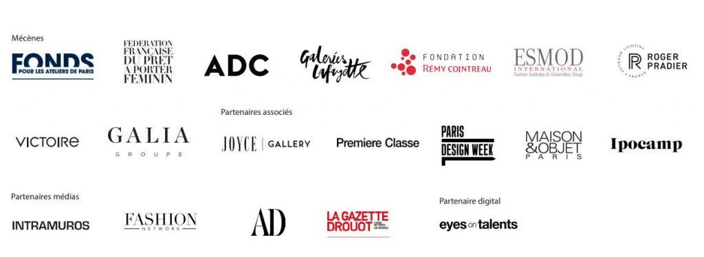 Logos des mécènes et partenaires des Grands prix de la Création