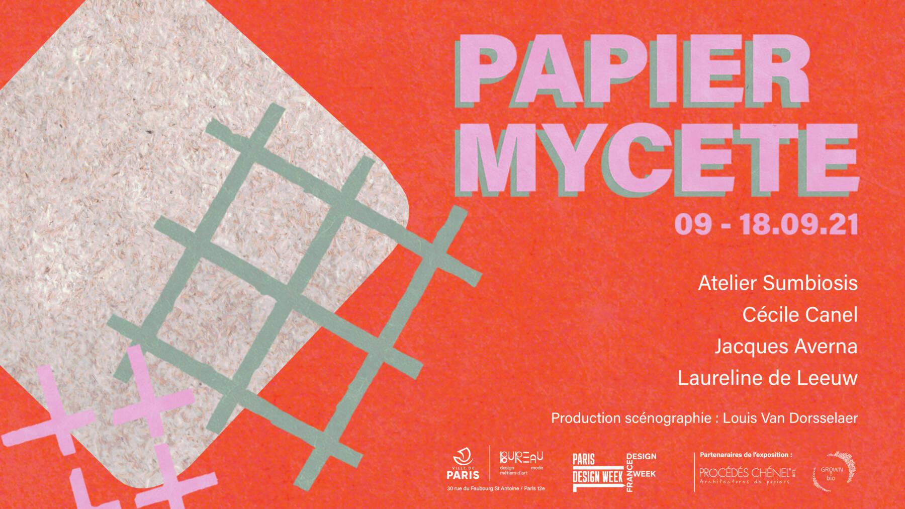 Affiche de l'exposition Papier Mycète
