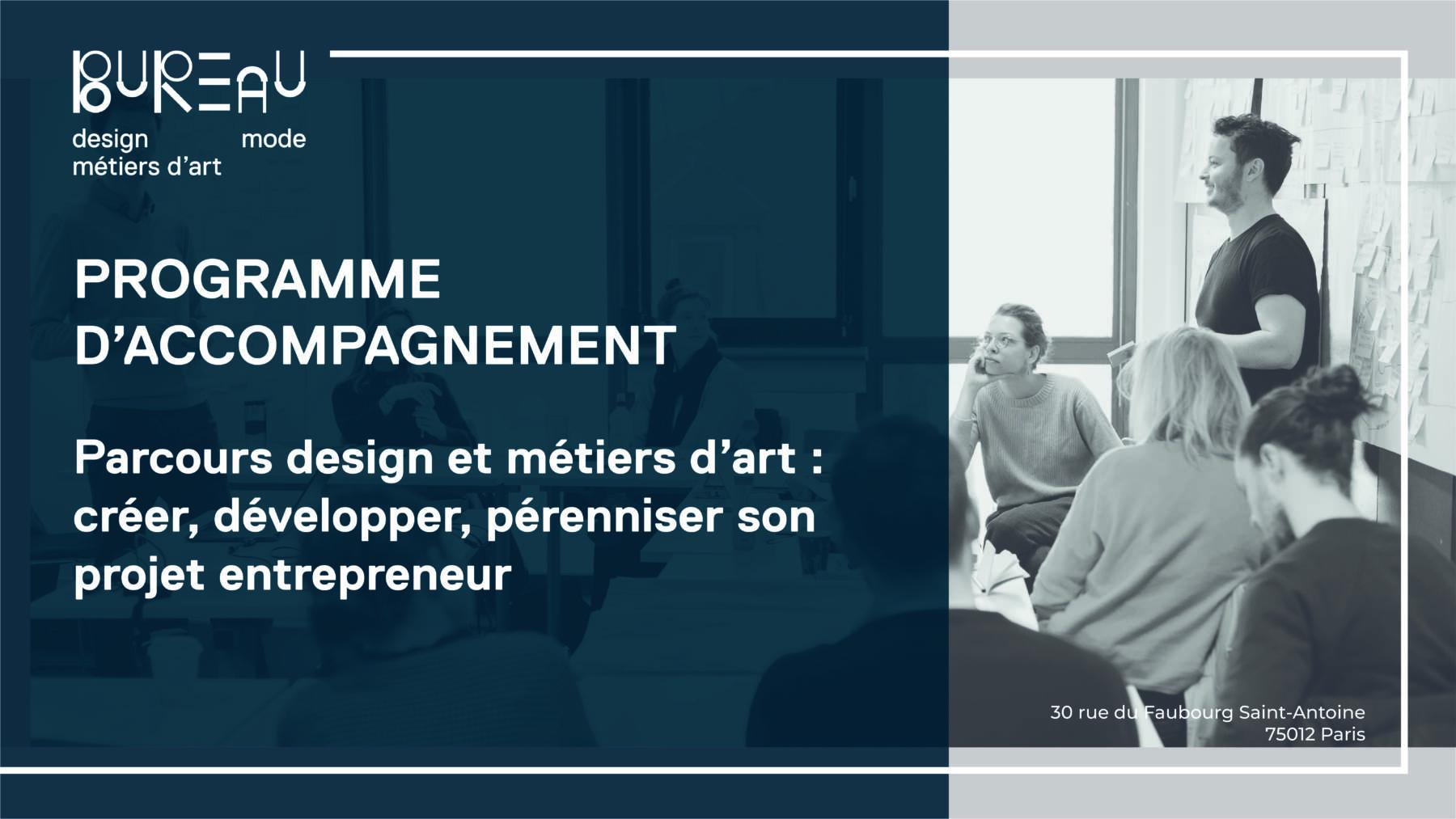 Parcours Design et Métiers d'art : créer, développer, pérenniser son projet d'entrepreneur